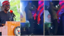 It's not focusing: Hilarious reactions as video shows Governor Sanwo-Olu doing focus dance on stage