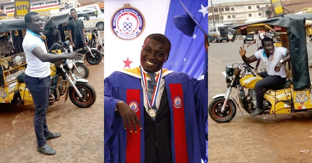Ghanaian who rode okada to fund himself graduates as best student with 3.96GPA