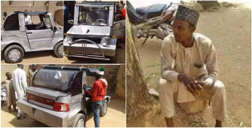 Nigerian man celebrated after using local materials to construct unique vehicle
