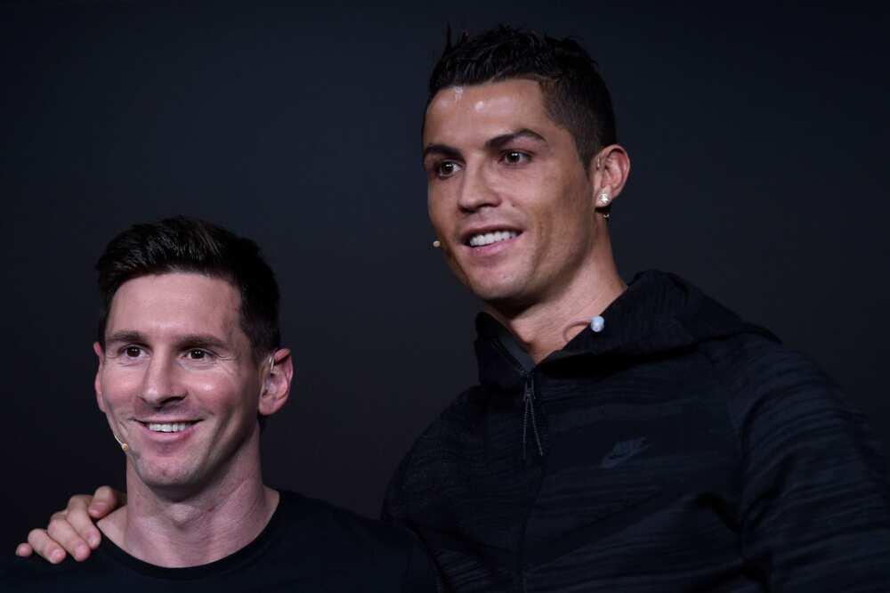 Ronaldo tare da Messi