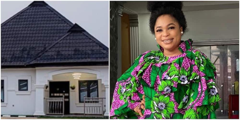 Nollywood actress Kemi Afolabi builds own house, check out the beautiful bungalow