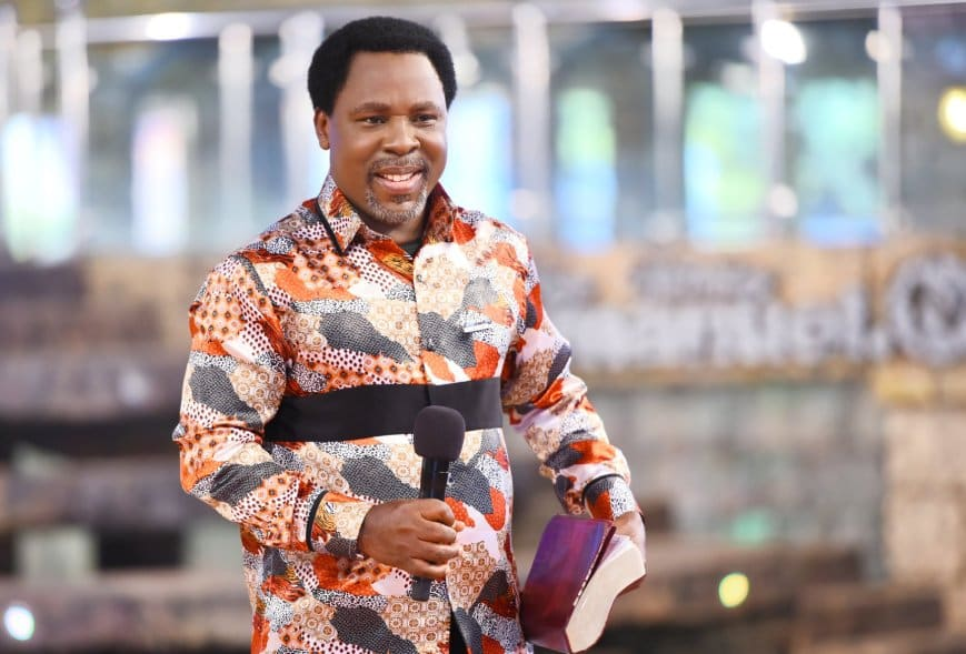 Why Nigeria will not break up, TB Joshua releases prophecy; warns against political class