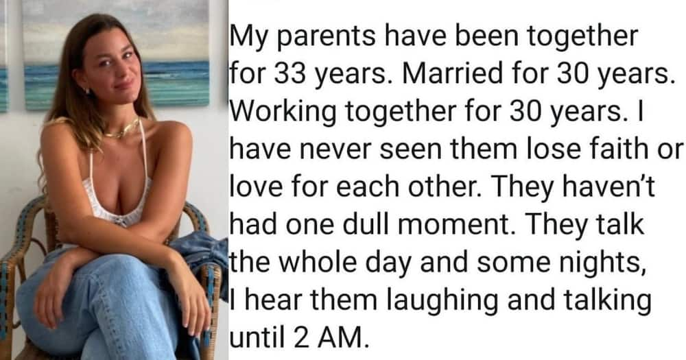 """Woman, raves about, parents' amazing relationship: """"love story written by God"""""""