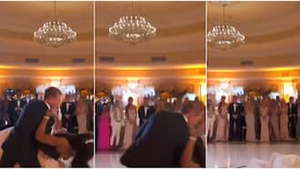 Falling in love: Reactions as couple suffer embarrassing fall during 1st dance at their wedding in viral video