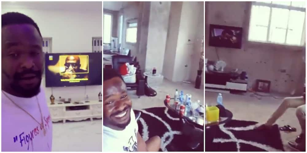 Meet before and after of Zubby Michael's sitting room in his palatial mansion
