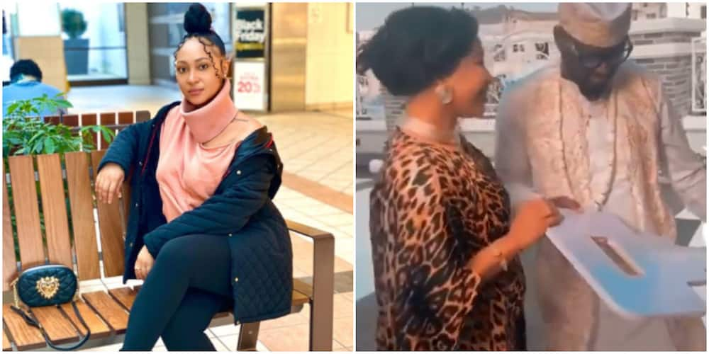 Rosy is married to Tonto Dikeh's ex husband