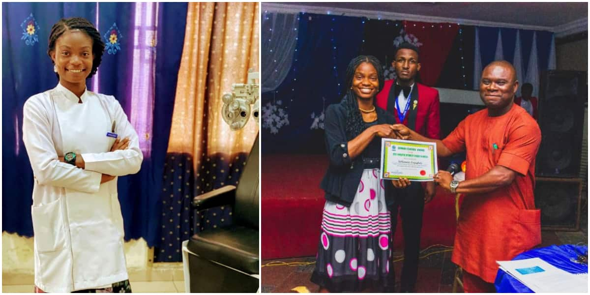 Young lady wins prize for being Most Innovative Optometry student in Nigeria