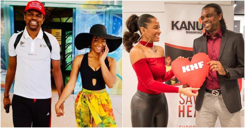 Legendary footballer Kanu Nwankwo's wife shares cute throwback (photo) to mark wedding anniversary