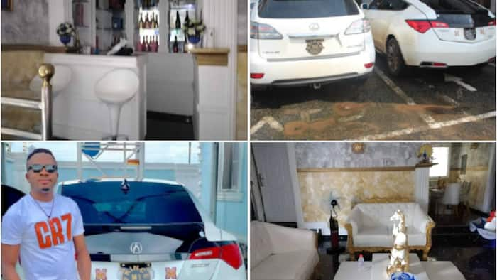 EFCC arrests Delta traditional chief for internet fraud, seizes high-class cars (photos)