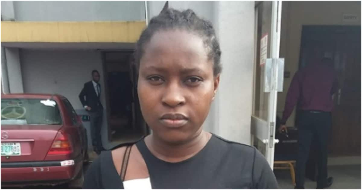 Suspected female fraudster arrested by EFCC bags 8-month jail time (photo)
