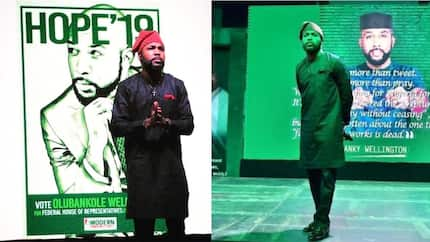 Nigerians react to Banky W's House Of Reps declaration