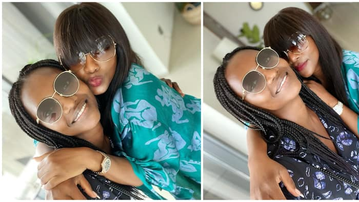 Actress Genevieve Nnaji hangs out with bestie and international supermodel Oluchi, tease fans with cute photos