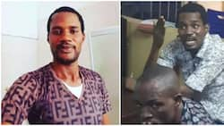 Toyin Abraham's ex Seun Egbegbe appears in court after he was arrested for serial fraud in 2017