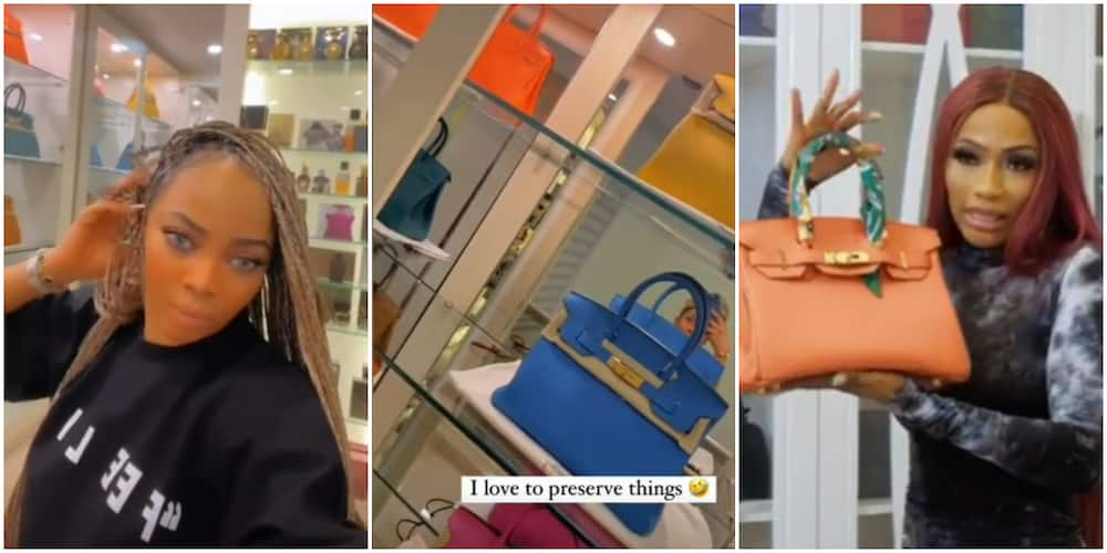 Battle of Hermes Bag: Toke Makinwa Flaunts Own Collection after Mercy Eke Bragged about Owning Two Pieces