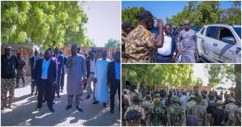 Borno governor offers Christmas package to soldiers in Bama
