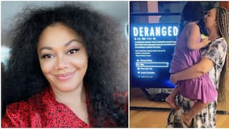 Does this mean I am short? Nadia Buari in disbelief as 6-year-old twin daughter grows to almost her height