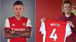 Jubilation at the Emirates as Arsenal announce the signing of top England international