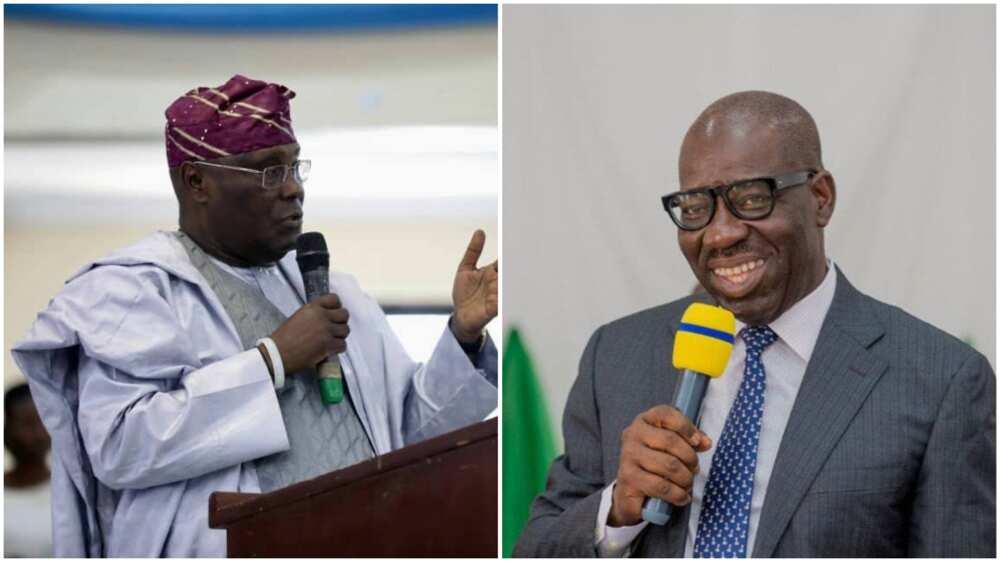 Turn out en masse to vote for Obaseki, Atiku begs Edo people