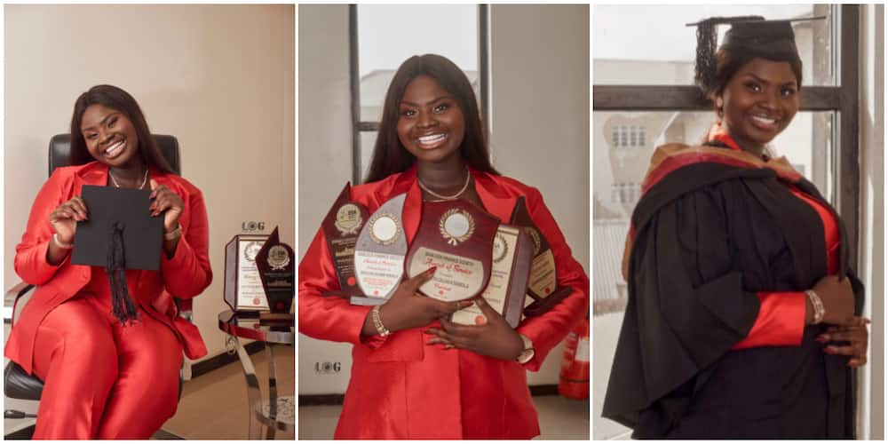 Joy as 18-year-old lady graduates from university with first-class in economics, bags 5 awards