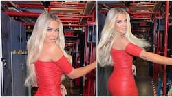 It's an OMG moment: Khloe Kardashian shows off weight loss goal in pretty little red dress, fans react