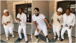 Tobi Bakre and his parents show off impressive moves as they dance to 'Egungun' (video)