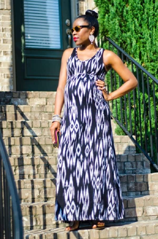 Maternity maxi gown