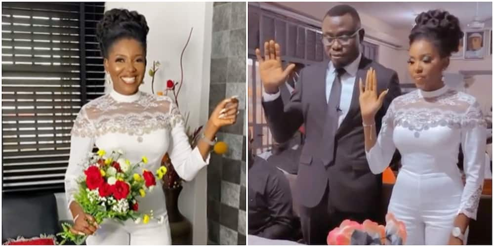 It's Legal, Nollywood Actress Biola Adebayo Happily Says As She Officially Ties the Knot