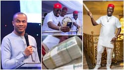 After criticising Obi Cubana over lavish spending, Nigerian pastor apologises in viral video, says 'he's my in-law'