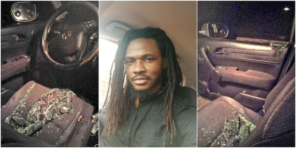 Man recounts how robbers in Lagos broke his glasses and aimed for his phone