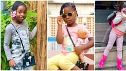 Celebrity kids fashion: Imade Adeleke is taking after her parents, little princess stuns in 8 adorable photos
