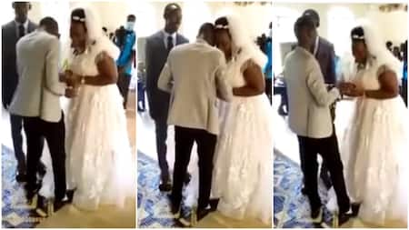 Bride cries uncontrollably in church on her wedding day, people wonder what's wrong, video stirs reactions