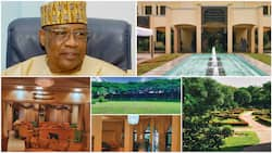 Photos show inside the palatial mansion owned by Ibrahim Babangida, chairs look like gold