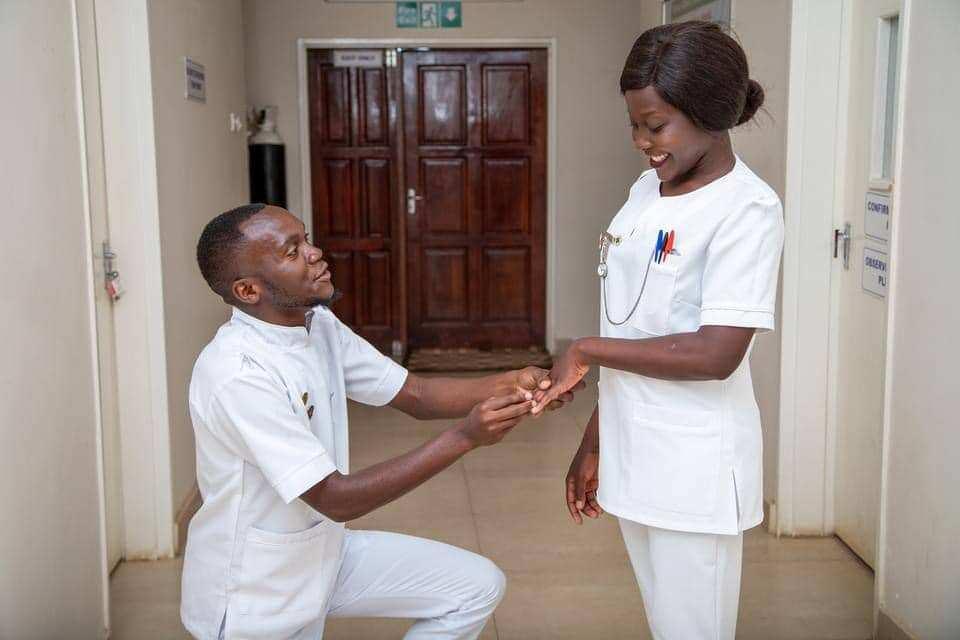 Nurses share their bond of love in cute pre wedding photos inside hospital