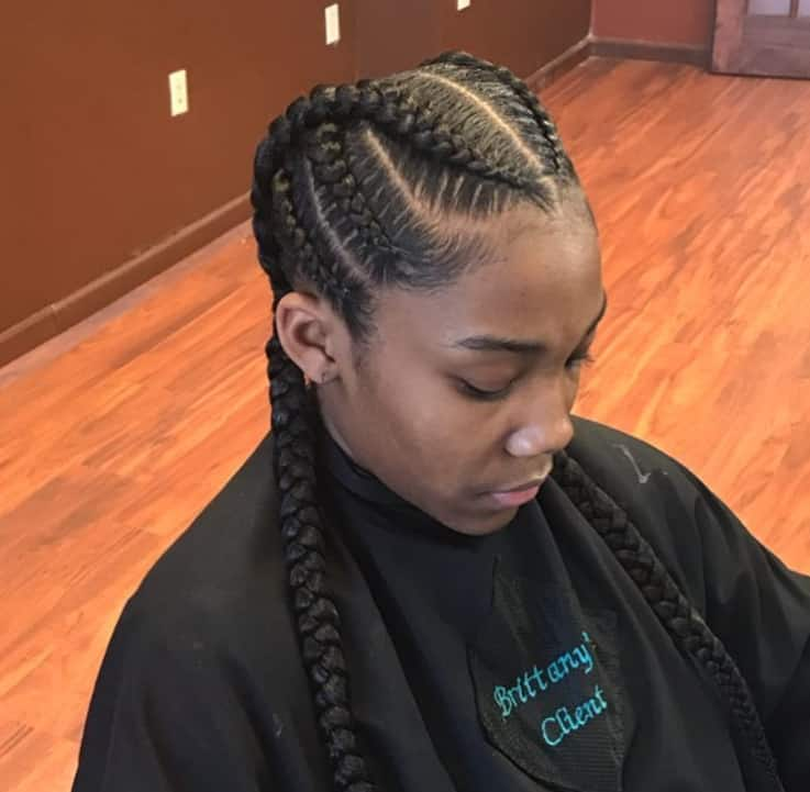 feed in braids styles for black women