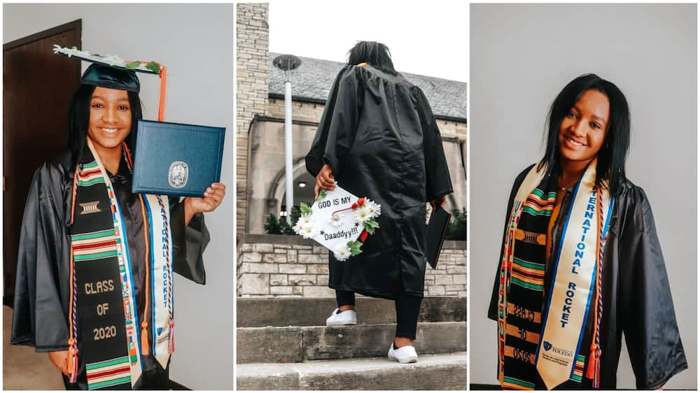 Motor accident could not stop her! Lady graduates despite challenges