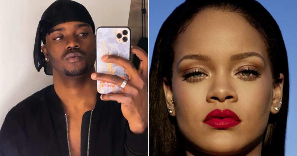 'Wait a Minute': Internet Stunned by Man Who Looks Like Male Version of Rihanna