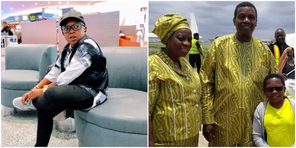 Nigerians react as Pastor Adeboye's son shares photo of moment actor Aki met his parents