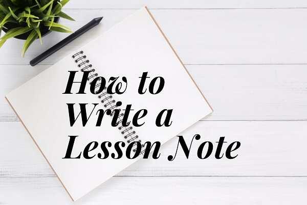 Lesson note