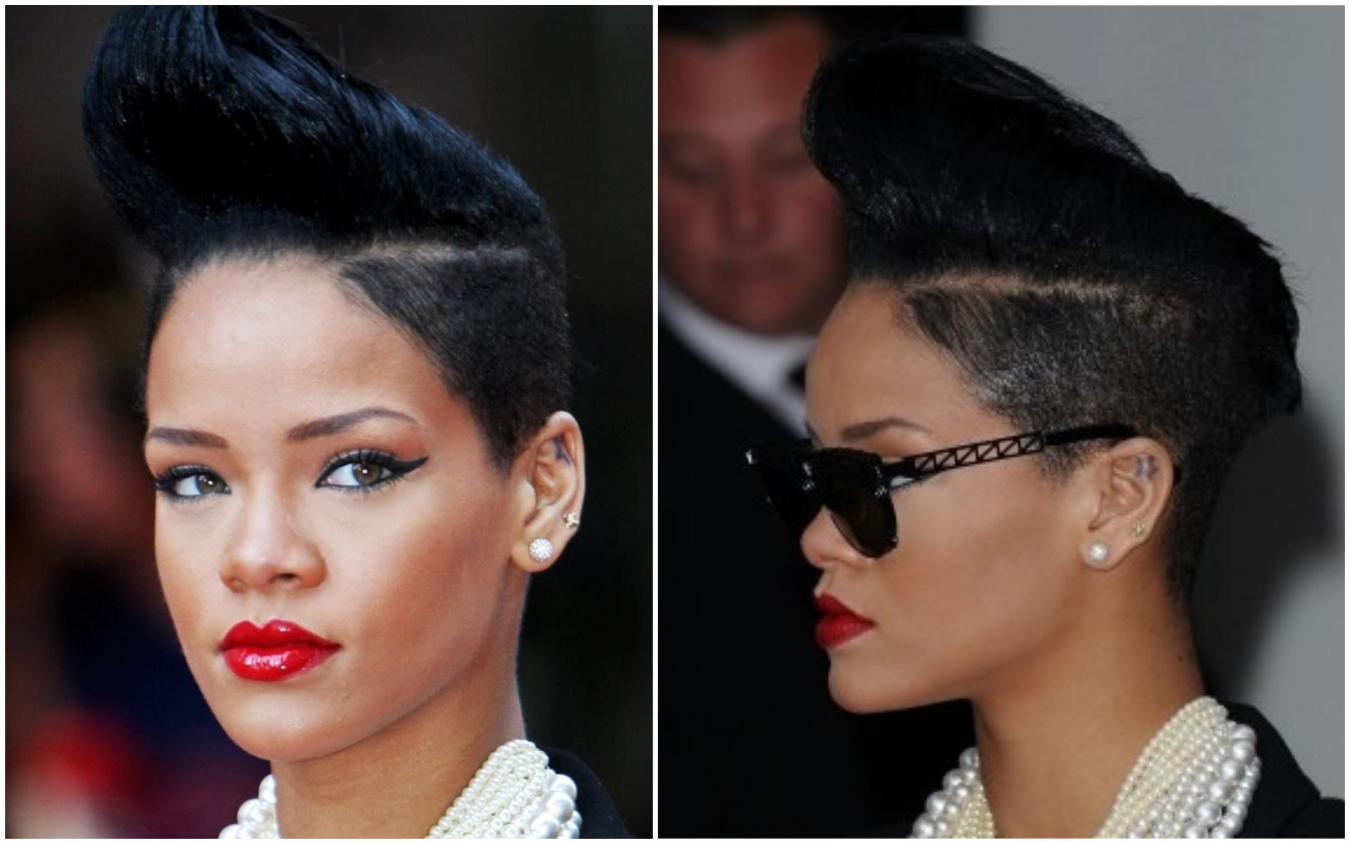 Rihanna S Short Hairstyles Front And Back View Legit Ng