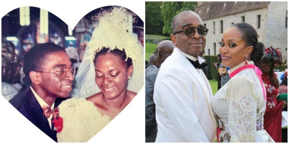 Olusegun Awolowo celebrates 30th wedding anniversary with wife, shares photo