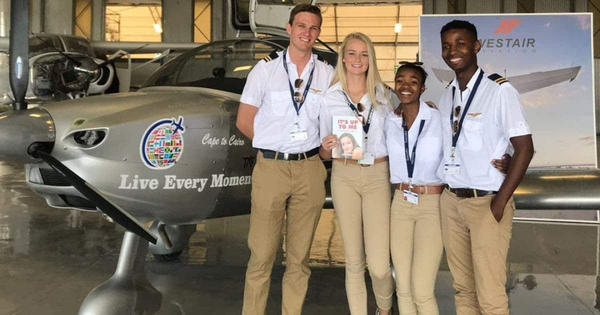 South African teenagers who built a plane to fly across Africa land in Egypt