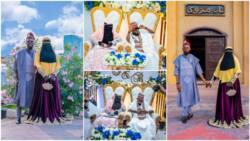 Photos of couple's Islamic wedding with touch of modernity stun social media, Nigerians react
