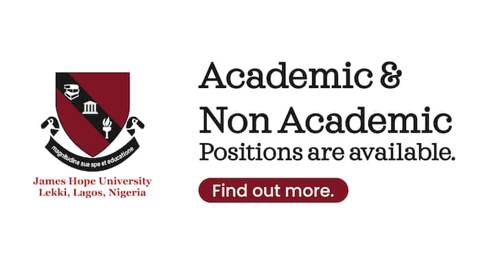 James Hope University Now Receives Applications for Academic and Non-academic Positions
