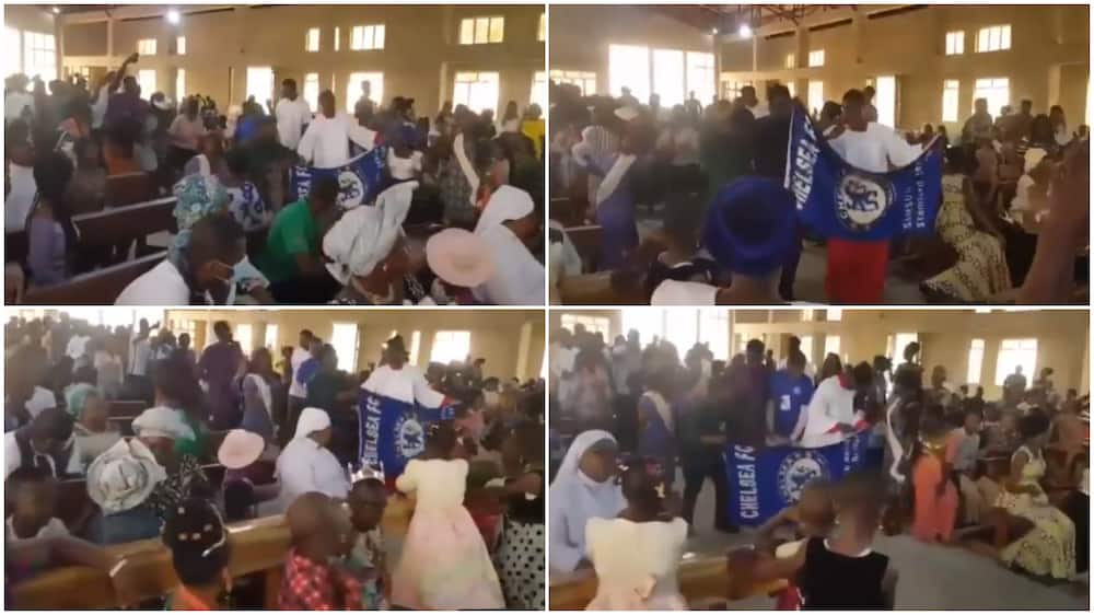 Viral video shows Chelsa fans doing thanksgiving in church after their club's win