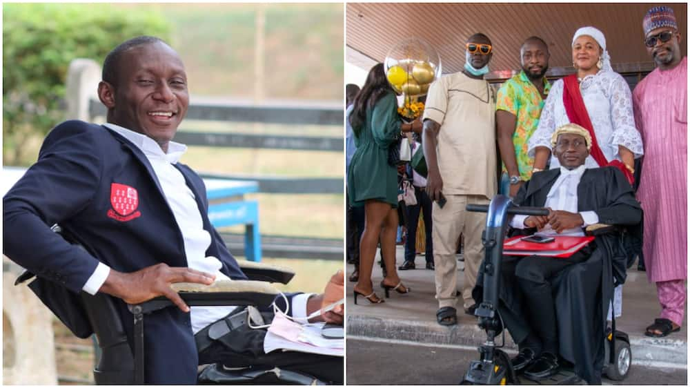 Man who lost ability to walk as teenager succeeds in life, called to bar