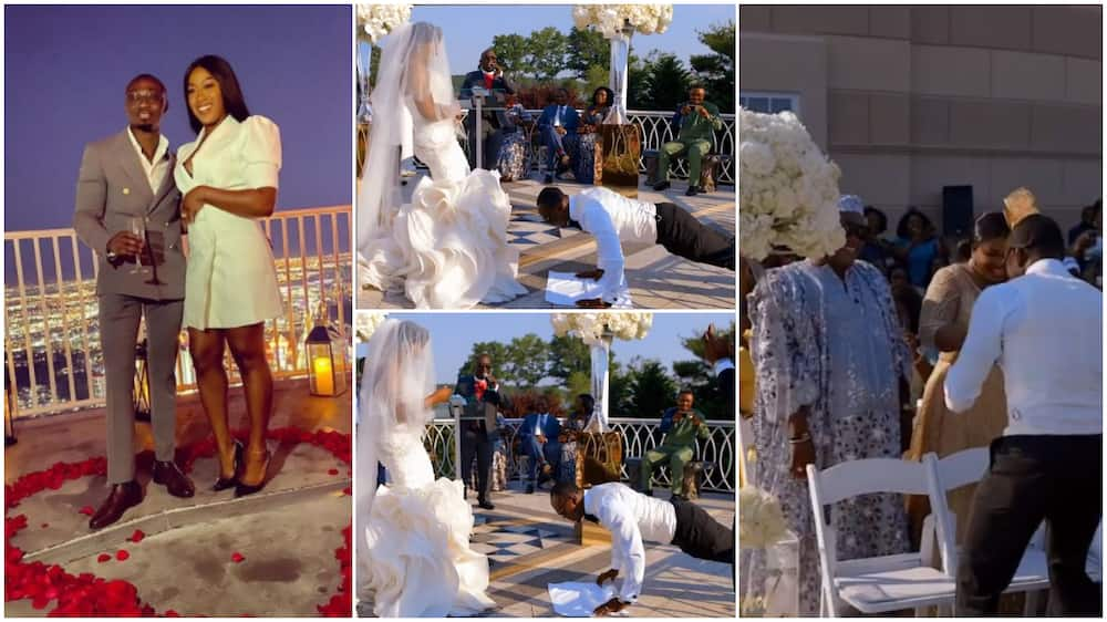 Video Shows Funny Moment Groom Does Press-Ups, Goes Into the Crowd to Shake Hands Before Unveiling His Bride