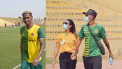 Wife of top Brazilian star playing in Nigerian league names eba and egusi soup as her favourite food
