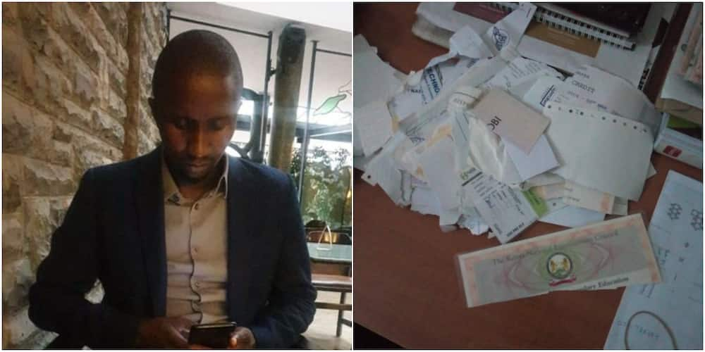 Man advises men after narrating how ex-lover tore all his certificates to pieces