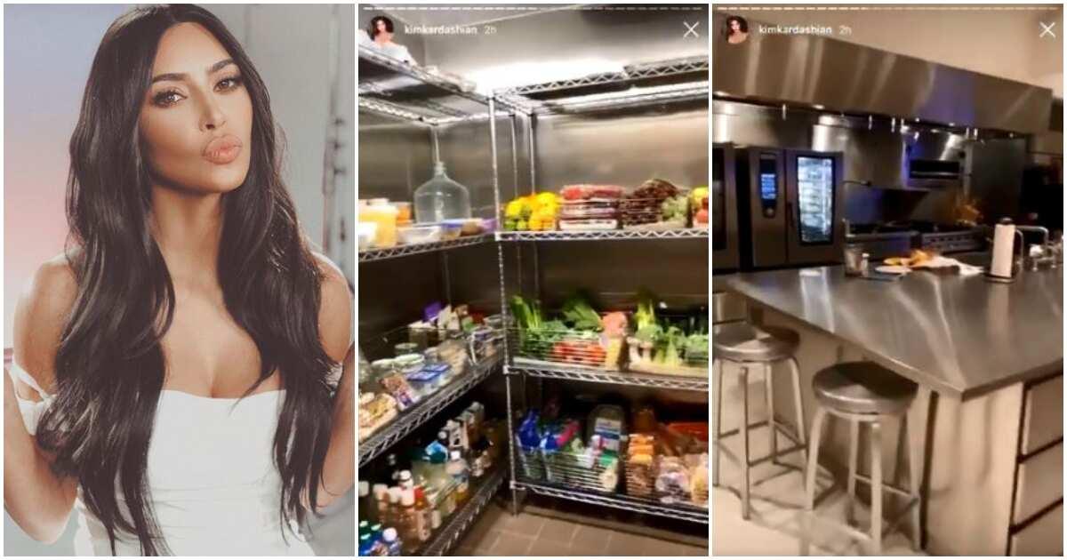 Kim Kardashian shows off her huge