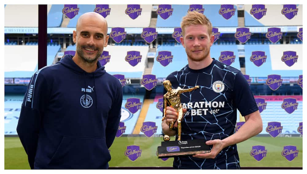 Pep Guardiola claims De Bruyne is the best midfielder in the world